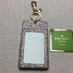 """""""Why Hello There"""" glitter Kate Spade ID clip!"""